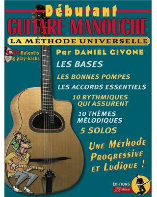 METHODE DEBUTANT GUITARE MANOUCHE  + CD + MP3