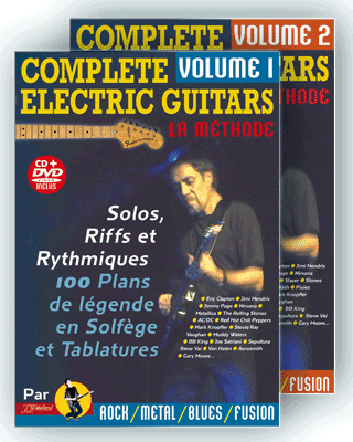COMPLETE ELECTRIC GUITARS<br /> Volume 1 et 2 + CD + DVD