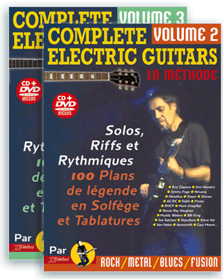 COMPLETE ELECTRIC GUITARS<br /> Volume 2 et 3 + CD + DVD