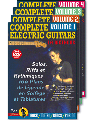COMPLETE ELECTRIC GUITARS<br /> Volumes 1 à 4 + CD + DVD