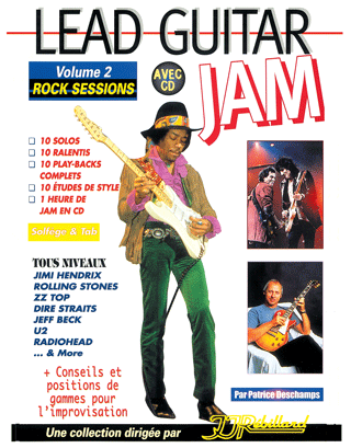 LEAD GUITAR JAM VOL 2</BR>Rock sessions